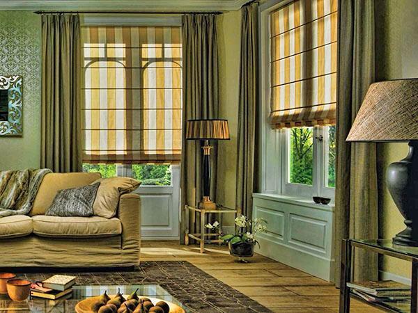 сочетание цвета стен и штор