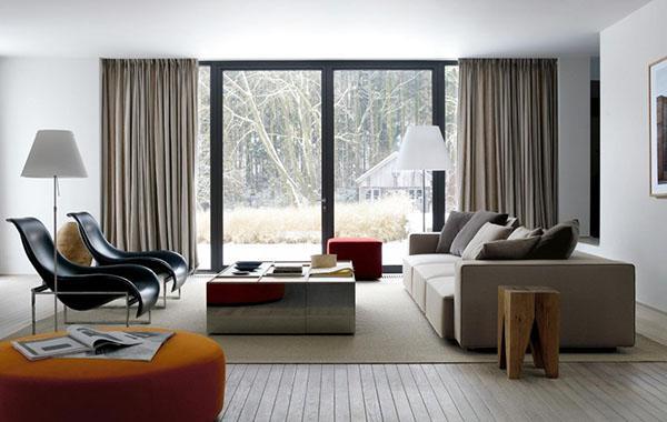 шторы в стиле модерн для гостиной
