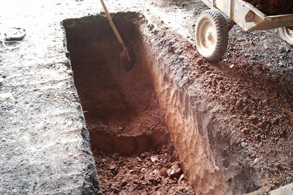 котлован под смотровую яму