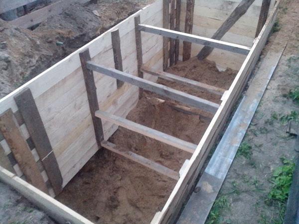 опалубка для бетонирования смотровой ямы