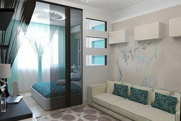 спальня в гостиной