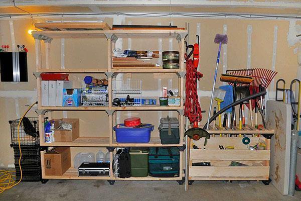 стеллажи в гараж
