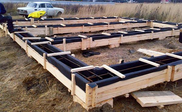 опалубка для бетонного ростверка