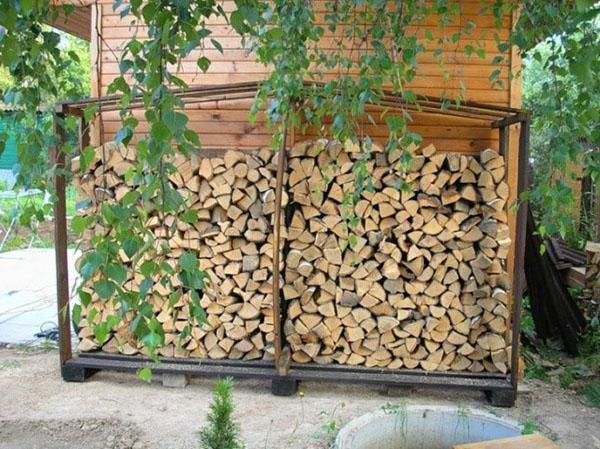 пристроенный дровяник