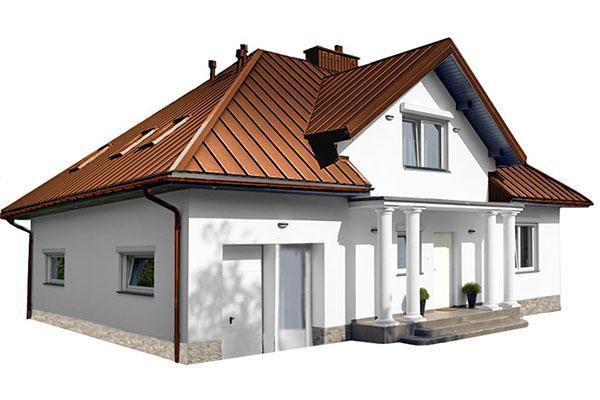 готовая крыша из профлиста
