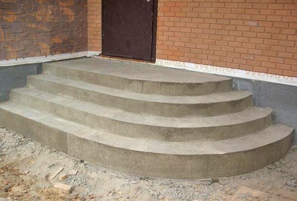 бетонирование ступенек