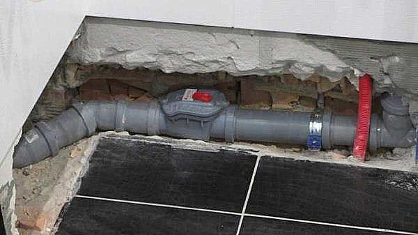 установка обратного клапана