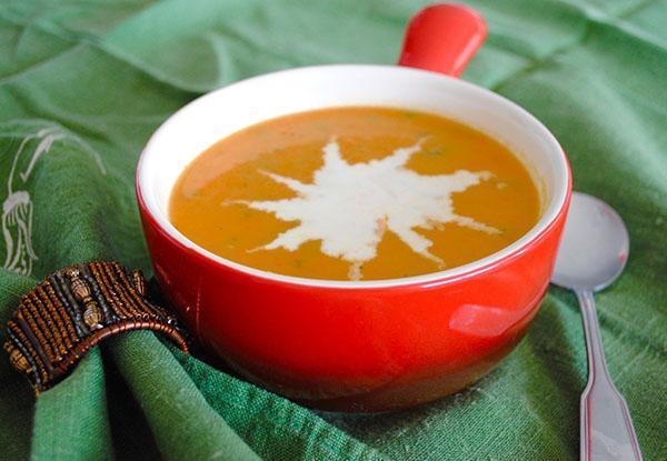 крем-суп с луком шалот