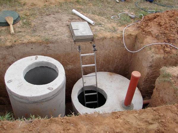 глубина установки бетонных колец