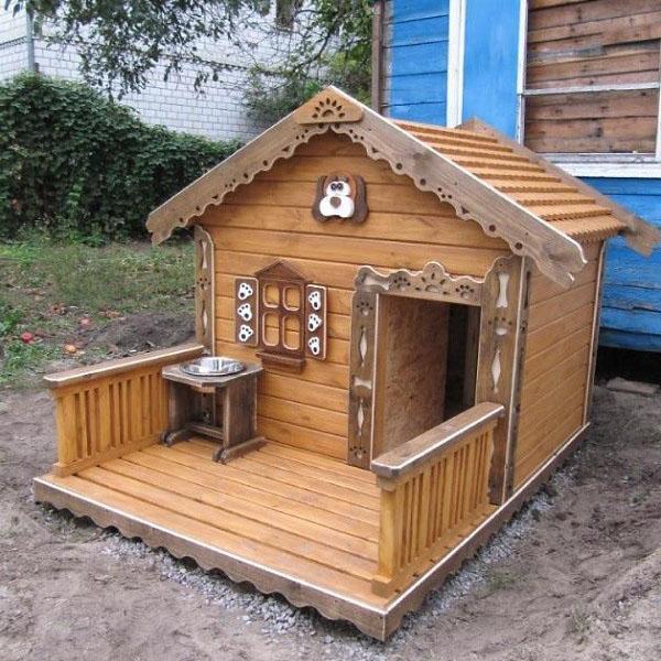 сказочный домик для собаки