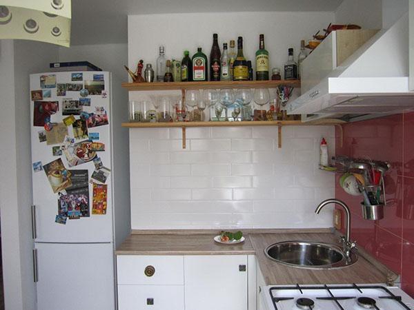 кухня нестандартной формы