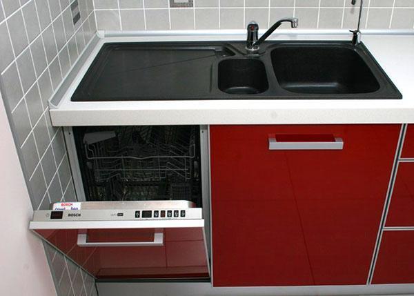 узкая посудомоечная машинка