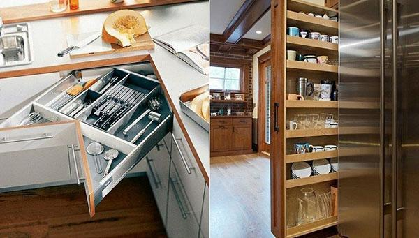 мобильная конструкция на кухне