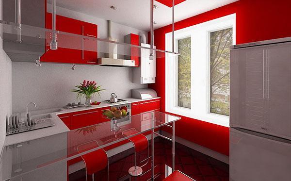 стиль хай-тек на маленькой кухне
