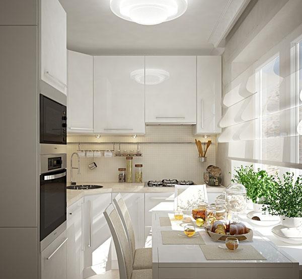 стиль модерн на маленькой кухне