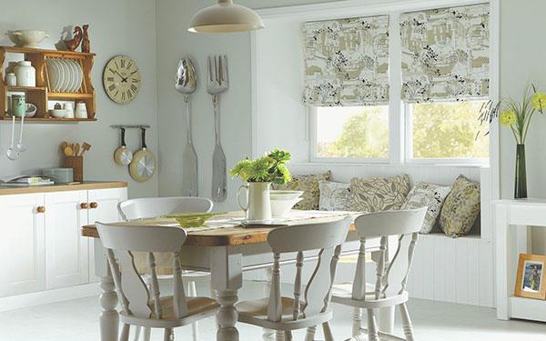 стильные кухонные шторы
