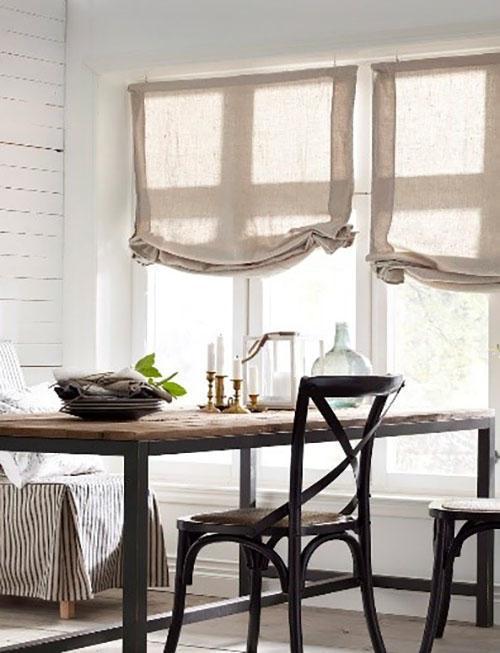 прозрачные римские шторы