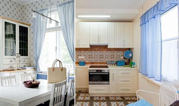 шторы в маленькой кухне