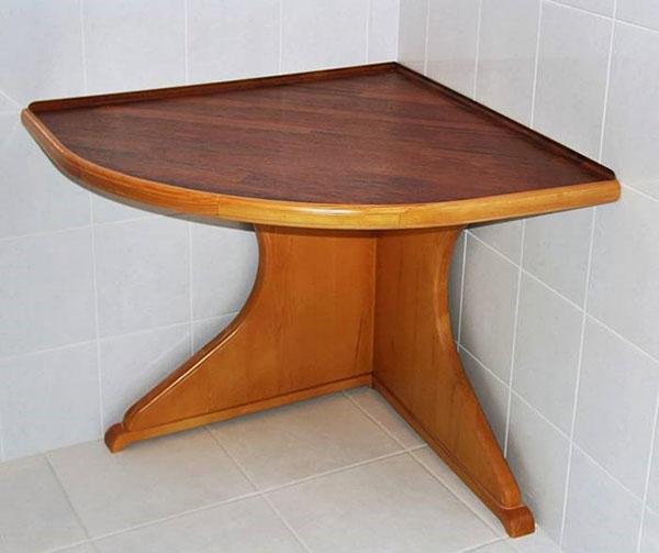 угловой сегментный столик