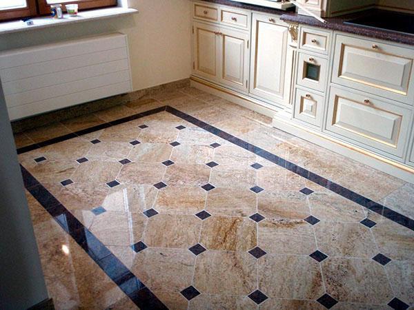 красивый пол на кухне
