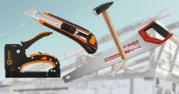 инструменты для монтажа крыши