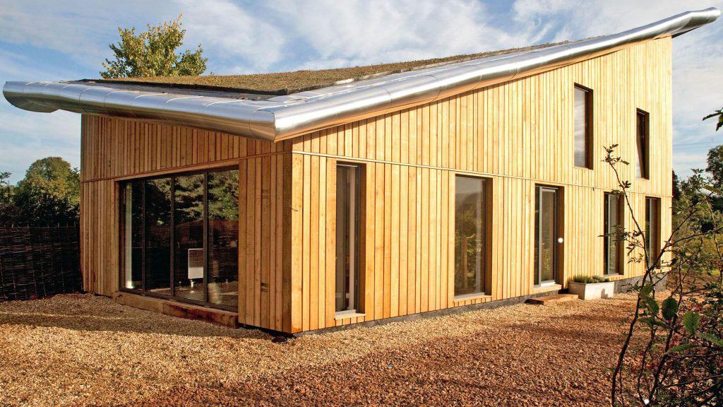 изогнутая плоскость односкатной крыши