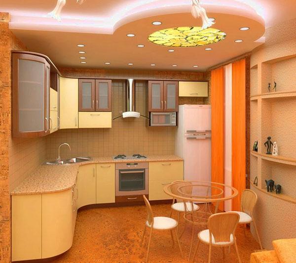 зонированный потолок
