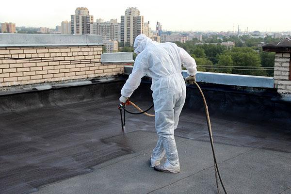 битумное покрытие крыши