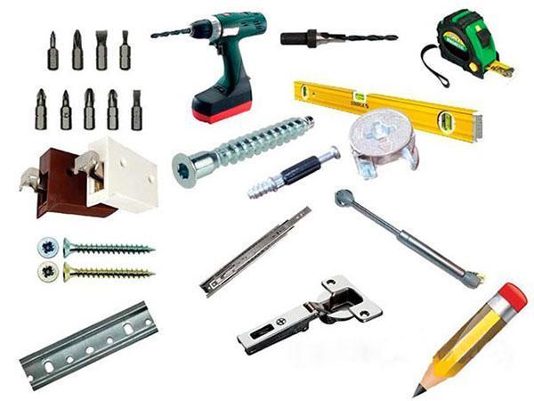 набор инструментов для сборки кухонного гарнитура