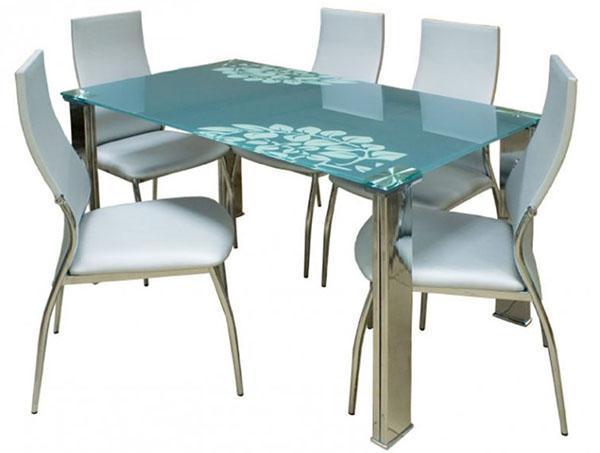 стол из голубого стекла