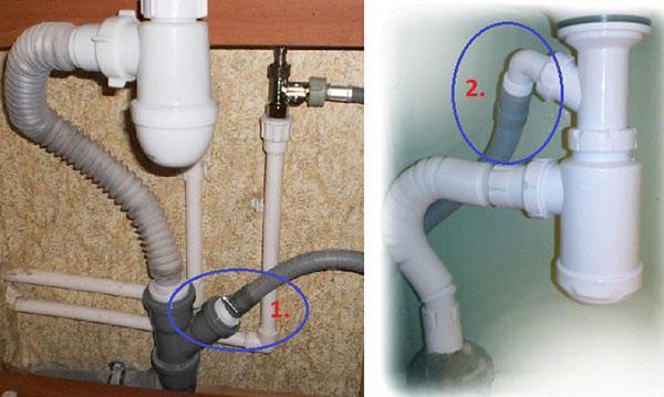 два способа подключения к канализации