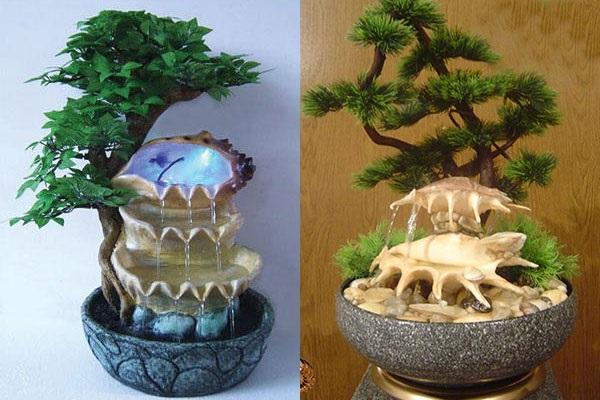 фонтанчики из морских раковин