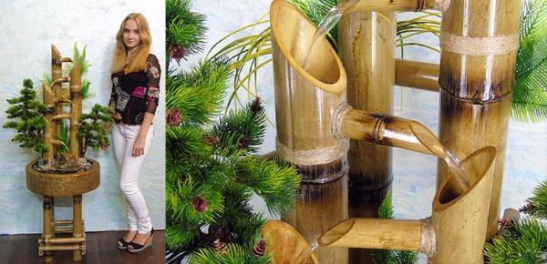 фонтанчик из бамбука