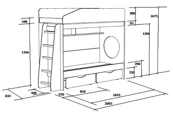 размеры кровати с ящиками