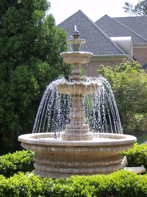 фонтан из бетона чаша