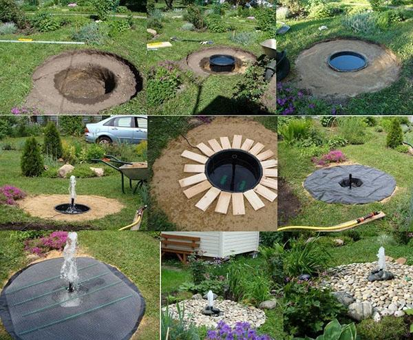 этапы работ по устройству фонтана
