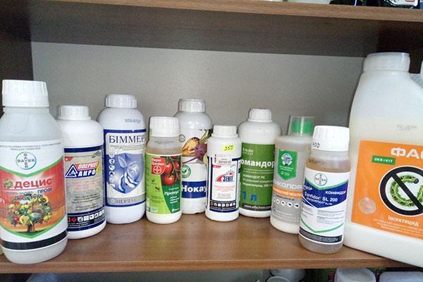 инсектициды с разным химическим составом
