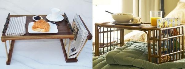 столики кроватные из разных материалов