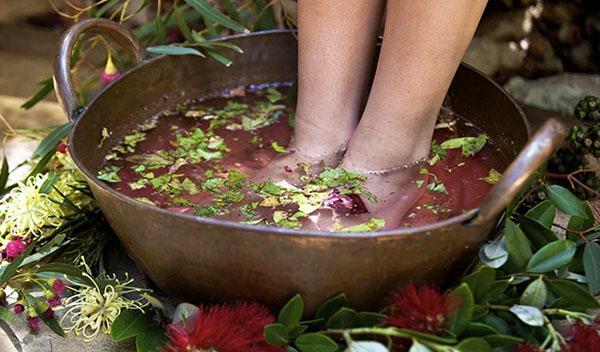 ванночка для ног из корня генцианы и дубовой коры