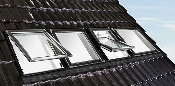 окна на крыше мансарды