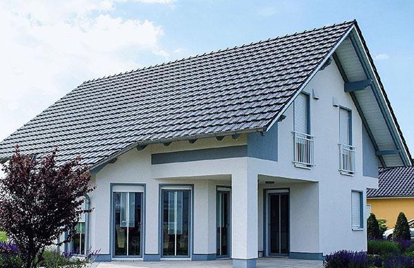 двускатная крыша мансарды