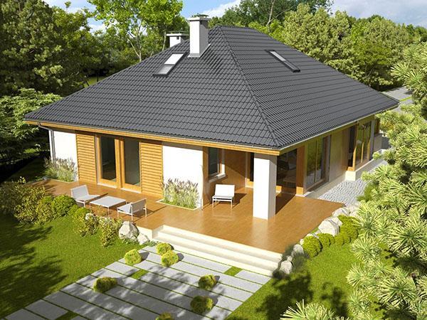 вальмовая крыша мансарды