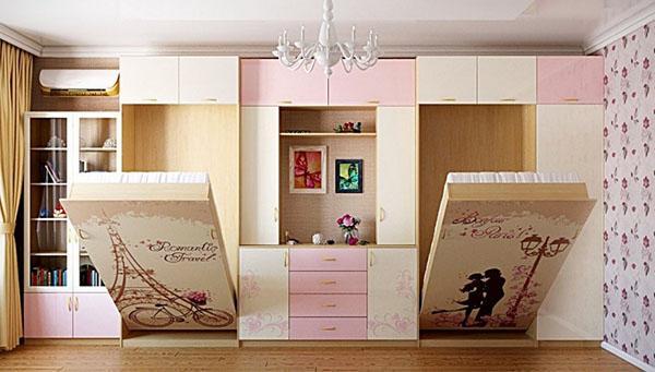 откидная кровать-шкаф в собранном виде