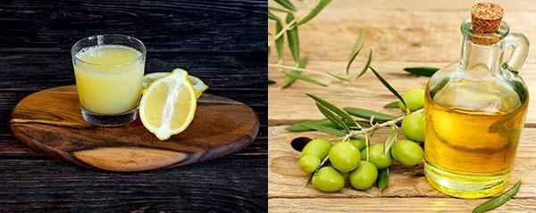 лимонный сок и оливковое масло для полировки мебели