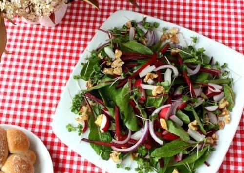 салат из ботвы
