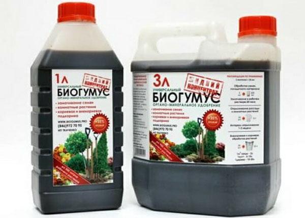 биогумус жидкий в упаковках