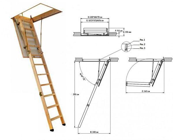 параметры деревянной лестницы