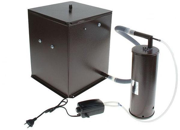электрическая коптильня горячего копчения
