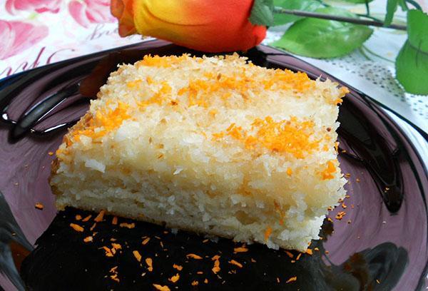 сливочно-ванильный кокосовый пирог