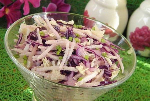 витаминный салат из редьки